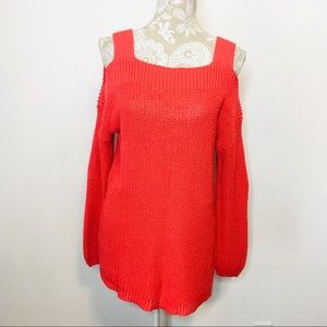 Soft Surroundings Cold Shoulder Chunky Knit S 1010